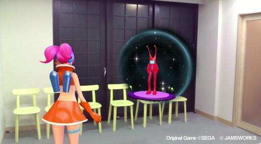 画像集#004のサムネイル/「スペースチャンネル5 AR」をメディア向け体験会で先行プレイ。自分の部屋に,うららとモロ星人達が出現!