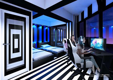 画像(002)eスポーツに特化したホテル,「e-ZONe 〜電脳空間〜」が大阪日本橋にオープン決定