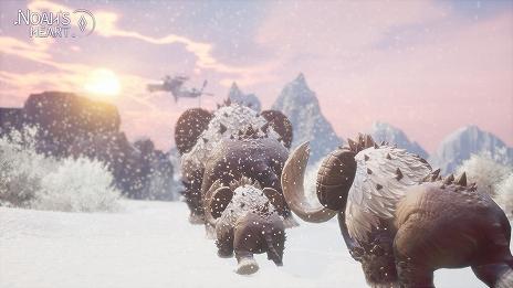 """Imagem (014) A Tencent Games anuncia o MMORPG """"& # 20128; & # 20122; & # 20043; & # 24515; (coração de Noé)"""". Um mundo aberto em uma estrela esférica com uma área de 64 milhões de metros quadrados"""