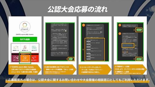 画像集#002のサムネイル/日本学生esports協会 / Gameicの「公認大会制度」8月大会の公募がスタート